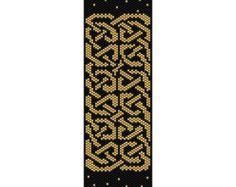 Celtic Knots 9 Peyote Bead Pattern Bracelet by SmartArtsSupply