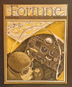 Fortune Magazine, May 1933 Cover art. full color Illustration