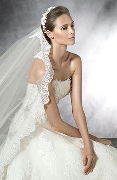 pronovias strapless lace wedding dresses 2016 PROMETEA_D
