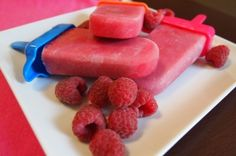 Creamy raspberry-orange popsicles are a refreshing snack or dessert. Make these vegan frozen treats in a few simple steps!