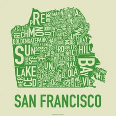 San Francisco Typographical Map