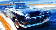 Art GAZ-21, Volga on Behance