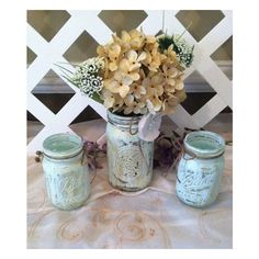 Rustic Mason Jars Rustic Wedding Decor Barn Wedding Country Wedding... (27 CAD) ❤ liked on Polyvore featuring home, home decor, ocean home decor, ball wreath, outdoor wreaths, welcome plaque and sea home decor