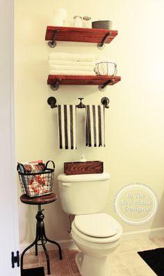 Industrial Farmhouse Bathroom Makeover on a budget