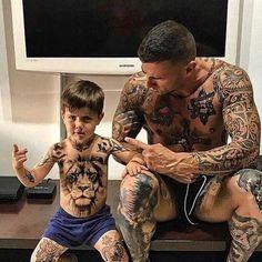 Bad boys… taty tattoedmen like tats tatuajes painting home inkedmen tattoo tatuaggio love hard tattoos