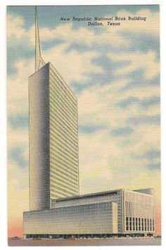 New Republic National Bank Building-Dallas Texas Vintage Postcard on Etsy, $2.50