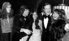 Hugh Hefner (second right) joins (from left) Francesca Annis, Roman Polanski, Irene Tsu and Barbara Benton at the premiere of their 1971 film MacBeth. Photograph: Everett Collection/Rex Feature