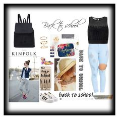 """""""Back to school"""" by selenagomez-163 ❤ liked on Polyvore featuring Miss Selfridge, Casetify, Eshvi and adidas Originals"""