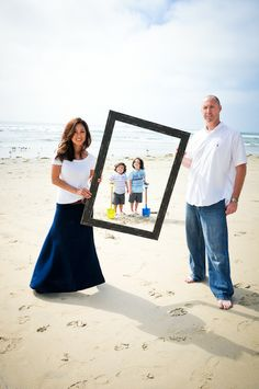 Family portrait at the beach... the site of our first date ;)