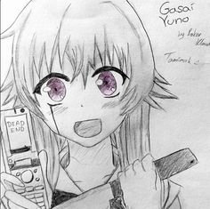 Gasai Yuno - Mirai Nikki by Bokor Klaudia