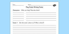 Play Script Writing Frame