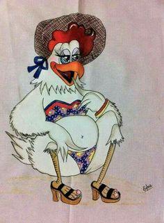 Galinha - New Site Cartoon Chicken, Chicken Humor, Chicken Crafts, Chicken Art, Applique Patterns, Applique Designs, Chicken Quilt, Chicken Pictures, Chicken Pattern