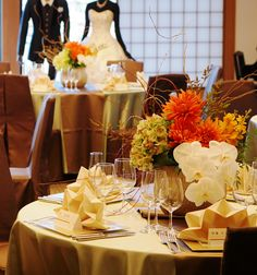 #tokugawaen#novarese#vressetrose#Wedding #japanese #table #Flower #guesttable#Bridal#徳川園# ブレスエットロゼ #ウエディング# 和風 #和装 # ゲストテーブル#トーション #テーブル # 花#テーブルコーディネート#ブライダル#結婚式#ナチュラル#ブレスエットロゼ名古屋#ダリア#オレンジ#胡蝶蘭#和