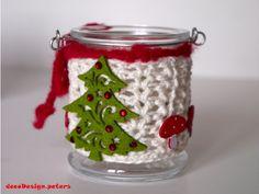 Weihnachtliches Windlicht von decodesign.peters auf DaWanda.com