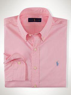 Polo Ralph Lauren Chemise unie cintrée popeline - Polo Ralph Lauren Coupe…