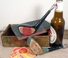 Vintage golf club bottle openers for the golfer dad
