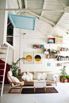 loft living room--in my dreams Interior Exterior, Home Interior, Interior Architecture, Coastal Interior, Style At Home, Deco Design, Home And Deco, My New Room, Home Fashion