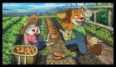 Nick joining Judy's family for a vacation in the farm