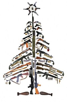 Gun Christmas tree