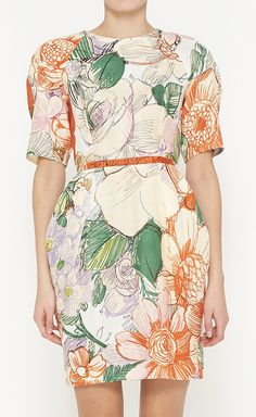 Stella McCartney Cream And Multicolor Dress | VAUNTE