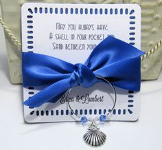Wine Glass Charm Favors  Wedding Favor  Set of 10  by Pedoozle