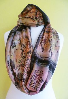 Middle Earth Scarf, Geek Scarf, Hobbit Scarf, Tolkien, Gift,Lord Of The Rings Scarf, ROOBY LANE