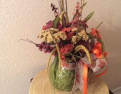 Fall centerpiece Fall flowers in ceramic by StylishDecorbyGClark