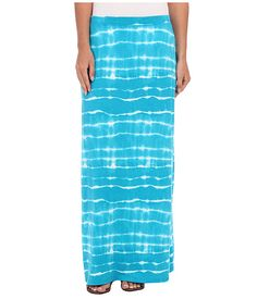 Jones New York Maxi Skirt Tahiti Turquoise Multi - 6pm.com