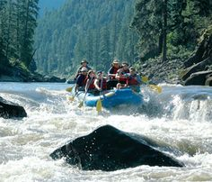 June 6th - The Salmon River, Idaho   * Idaho has more than 3,100 white water miles, many of them on the Salmon River.  Rafters crash through the churning waters and venture into gorgeous country of mountains and canyons, home to wildlife like river otters, elk, and bighorn sheep.