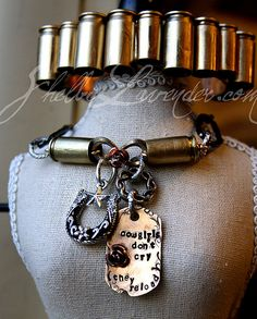 Cowgirls Don't Cry, they reload bullet necklace - love this one