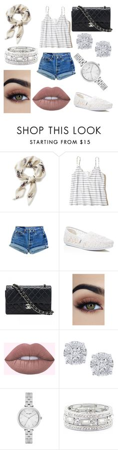 """""""Untitled #988"""" by savannahmstyle ❤ liked on Polyvore featuring L.L.Bean, Hollister Co., TOMS, Chanel, Effy Jewelry, Kate Spade and Sole Society"""