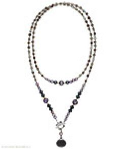 """SOLD Shell, Bead & Sterling Silver Necklace N1784 Appreciate the finer things in life with this Sterling Silver, Hematite, Pearl, Glass and Shell Necklace. 34"""" with a front Toggle Clasp. Length: 34"""" Cost: $99.00 Your cost $49.50 + tx - SOLD"""