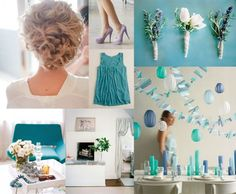 Summer Wedding Colors   Top row: beautiful wedding hair, image by Troy Grover via Style Me ...