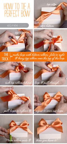 How to tie a perfect bow... I can do a lot of crafty things with ribbons, but tying a bow is NOT one of them... UNTIL NOW, lol!