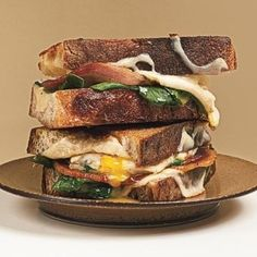 Italian Bacon and Fried Egg Sandwiches Recipe | Just A Pinch Recipes
