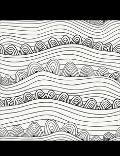 Black and white vector seamless abstract hand-drawn pattern.