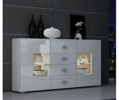 Mataro Sideboard Selsey Living Colour: White, LED: Yes Girl Bedroom Designs, Girls Bedroom, White Chest Of Drawers, Dining Cabinet, Hallway Storage, Homestead Living, Modern Bedroom, Sideboard, Dresser