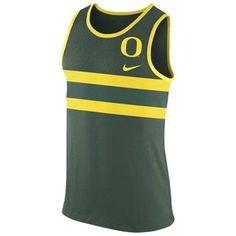 Men's Nike Green Oregon Ducks Enzyme Washed Vibe Tank Top