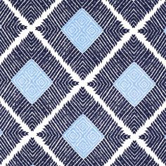 John Robshaw Textiles - Phulkari Indigo - Blockprinted Linens - Fabric