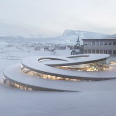 Bjarke Ingels unveils spiralling museum for Swiss watchmaker Audemars Piquet