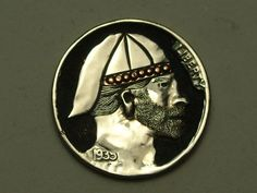Hobo Nickel by John DeMarco with Copper Inlay Hobo Nickel, Buffalo, Copper, Ebay, Brass, Water Buffalo