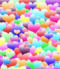 Bubble Hearts Dark