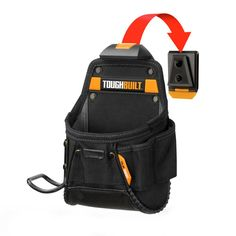 The TOUGHBUILT Project Pouch with Hammer Loop transforms how professionals carry tools. The patented ClipTech Hub allows the pouch to clip on and off any belt so it is carried only when it is needed or Belt Storage, Tool Storage, Tool Belt Pouch, Utility Pouch, Construction, Carry On Luggage, How To Make Shorts, Tools, Projects