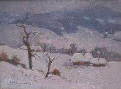 """""""Zimowy pejzaż górski"""" Edmund CIECZKIEWICZ (1872-1958)"""