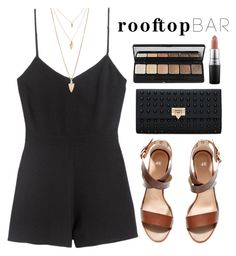 """""""#27"""" by mandyhoran1 ❤ liked on Polyvore featuring H&M, Forever 21, e.l.f., MAC Cosmetics, summerdate and rooftopbar"""