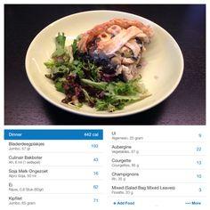 Chicken-Quiche with Salad