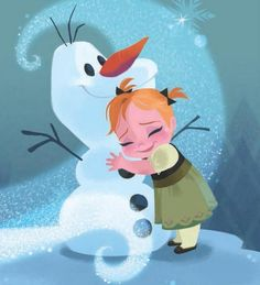 Anna and Olaf from A Sister More Like Me illustrated by Brittney Lee