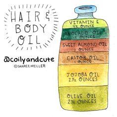 Naptural85 Hair & Body Oil recipe Instagram photo by @coilyandcute via ink361.com
