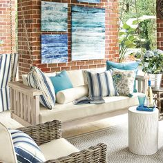 Where can I find porch swing? Shop Ballard Designs for the perfect porch swing and outdoor hammock for stylish outdoor relaxation! Decor, Porch Swing, House Front Porch, Deep Seat Cushions, Furniture, Home Decor, Porch Decorating, Outdoor Furniture Sets, Porch Design