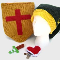 For all the gamers out there, Link's LEGENDary Accessories- totes inspired by the Legend of Zelda, and beyond rad crocheted #DIY goodness.